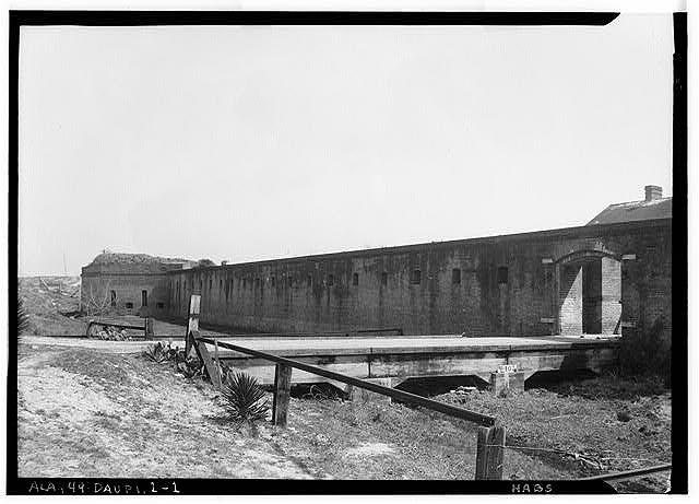 Fort Gaines Entrance in 1934