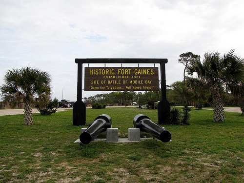 Fort Gaines Entry Marker
