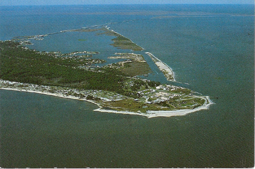 The east end of Dauphin Island